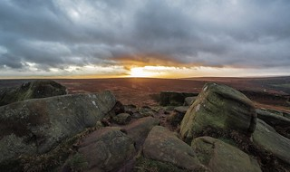 Sunrise, from Higger Tor....