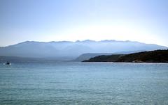 White Mountains in blue. (sidibousaid60) Tags: whitemountains lefkaori marathi crete greece sea mountains blue haze mediterranean