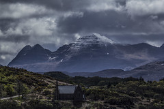 Road through Torridon re-work - May 2015 (GOR44Photographic@Gmail.com) Tags: tamron torridon mountains highlands westerross snow church road a896 cloud scotland gor44 canon 70300mmf456diusdvc 60d peaks