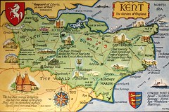 Along the SE coast and Broadstairs-Ramsgate where Mary lived 12/62 to 1963 (spelio) Tags: travel mary 196263 uk england postcards copies map plan cartography coast mapping kent canterbury dover ramsgate romneymarsh dungeness riverthames 179views160118 hops poem text quotes