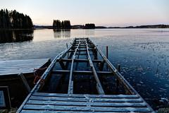 Iisalmi (Tuomo Lindfors) Tags: iisalmi suomi finland pikkuii järvi lake vesi water laituri pier myiisalmi dxo filmpack jää ice