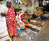 Guessing that many are the wives of fishermen (debra booth) Tags: 2017 grandbazaar india pondicherry pudicherry puducherry copyrighted wwwdebraboothcom
