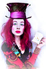 Mrs Mad Hatter (Sarina Rose) Tags: girl women aliceinwonderland madhatter disney cosplay cosplayer halloween pink hair costume