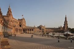 Plaza de España - Sevilla (Thijs de Bruin) Tags: andalusië andalusia sunset spanje spain sevilla de parquedemaríaluisa