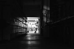 DSC_00472 (medeirosisabel16) Tags: guaratingueta etec school escola peb bw preto branco black white hall corredor people pessoa men homem wardrobe dark escuro night noite luz light chairs cadeiras