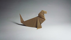 Traditional Origami Seal (Origami.me) Tags: origami papercraft papercrafts paper craft crafts diy traditional fold folding seal