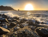 Watching the waves (Alberto Vanoli) Tags: map color beaches seashells rocksstones sunsetsunrise nature photo landscape sea bayarea