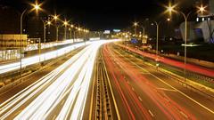Ronda Oeste (Orzaez212) Tags: color ingeniería autovía málaga ciudad urbano colores noche nocturno canon luces rojo blanco exposición transporte suncoast