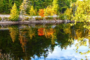 Lake Placid New York ~ Water Reflection in the Autumn