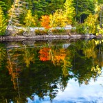 Lake Placid New York ~ Water Reflection in the Autumn thumbnail