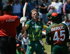 @ABdeVilliers17 brutal #Bangladeshi  Bowling Attack by making 176 runs in 104 balls returning his comback in great fashion #SAvBAN #ODI #love #cricket #ABDevillers #360player https://t.co/oupM1OPOx0 (imvikaskohli) Tags: abdevillers odi savban 360player cricket love bangladeshi