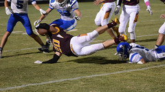 Fighting for the extra yard (AppStateJay) Tags: nikon d7100 tamron70200mmf28dildifmacro tamron70200mmf28 tjca thomasjeffersonclassicalacademy gryphons 2017 football season sport action athlete athletics game home homecoming communityschoolofdavidson nc northcarolina rutherfordcounty southernpiedmontconference