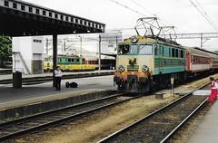 Poznan 1998 - class EU07 electric locomotive (rh1193) Tags: railway train eisenbahn zug railroad pkp eu07 electric poznan poznań polska poland polen 1998 1990s
