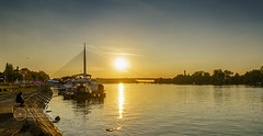 Ada-Bridge-Sunset-3 (Predrag Mladenovic) Tags: belgrade sava river ada bridge newrailway gazela sunset twilight reflections citylights