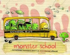 Monster School (jimbradshaw) Tags: monster characters cartoon humor kids school schoolbus character