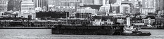Barge off Brooklyn (PAJ880) Tags: barge brooklyn staten island ferry nyc harbor urban waterfront new york mono bw