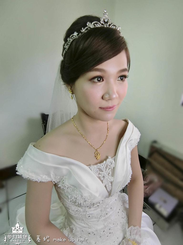 【新秘蓁妮】bride佩真 訂婚造型 / 台中自宅
