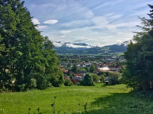 View over Kiefersfelden in Bavaria, Germany