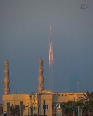 Mesmerizing BURJ KHALIFA lighted by sunset............ (ravijaichand) Tags: sky dubai burj khalifa