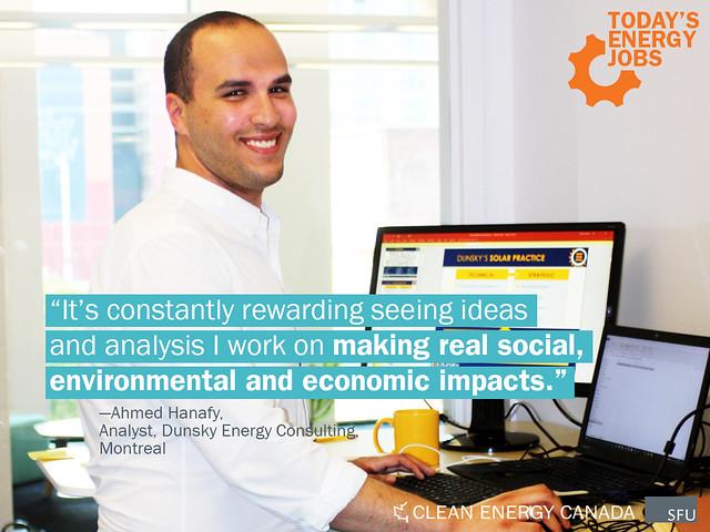 Ahmed Hanafy, Analyst, Dunsky Energy Consuling