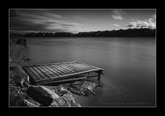 Arrival (Adam C Images) Tags: nikon d800 full frame dslr tamron 2470 vc f28 35mm focal length black white fine art long exposure lake water clouds hurricane nate dock ruin smooth silky nisi filters south frontenac ontario canada verona rock