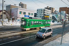 Sapporo Streetcar (Pumpkin Kuma) Tags: sapporo hokkaido streetcars city urban transport transportation japan feb 札幌 札幌市電 北海道