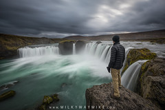 The Edge Of Godafoss (Mike Ver Sprill - Milky Way Mike) Tags: goðafoss godafoss waterfallofthegods water fall falls landscape nature iceland beautiful surreal serene dark longexposure stacked stacking travel explore mikeversprill michaelversprill selfie selfportrait clouds cloud october 2017 amazing north icelandic tourism tourist