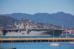 Parade of Ships (julesnene) Tags: paradeofships sanfrancisco california unitedstates us julesnene juliasumangil fleetweek2017 goldengatebridge canon5dmarkiv canonef70200mmf4lusmlens ussessex manningtherail