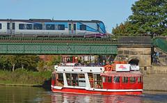 Modes Of Transport (Feversham Media) Tags: northyorkshire york scarboroughbridge yorkshire riverouse riverpalace firsttranspennineexpress dieselmultipleunits dmus class185dmus desirodmus desiros valeofyork workingboats citycruisesyork