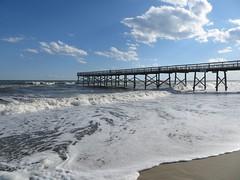 Waves Along the Beach Pier