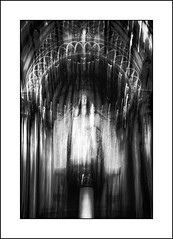 Madonna & Child (SK Monos) Tags: icm monochrome blackwhite canon chartres pilgrim cathedral madonna sacred spiritual mystery shrine blur artistic creative abstract texture