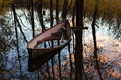 Half-full (Antti Tassberg) Tags: reflection laaksolahti 50mm syksy vene pitkäjärvi järvi espoo autumn boat fall lake lens prime uusimaa finland fi
