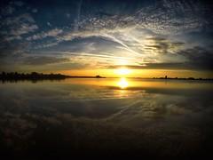 Oostvaardersplassen sunset. 19-10-2017
