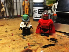 Now it's Radioactive! That Can't Be Good! (Lord Allo) Tags: lego dc professor radium mister toxic batman