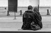 Mother's love (hector_cbs) Tags: people street wallstreet newyork newyorkcity usa america candid monochrome blackandwhite love mother son