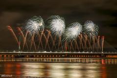 Mersey Gateway Bridge Fireworks 5 (Bob Edwards Photography - Picture Liverpool) Tags: 2017 bridge cheshire crossing gateway halton mersey merseyflow october13th river runcorn transport vehicles widnes