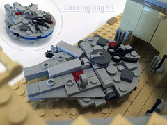 The Millennium Falcon and Docking Bay 94 Micro Scale Lego MOC (richardvanas1) Tags: lego star wars millennium falcon han solo docking bay 94 moc micro scale