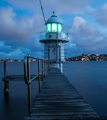 Guiding Light (Jaywim) Tags: lighthouse light house bradleyshead bradleys head mosman bluehour sydney sydneyharbour harbour