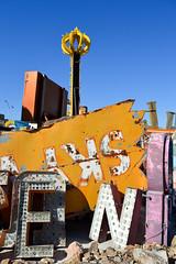 Crown & Signs (*~Dharmainfrisco~*) Tags: dharma dharmainfrisco las vegas neon lights boneyard museum art history signs travel tour 2016 usa