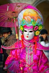 Pretty in Pink (Rice Bear) Tags: afsfx85f14g carnavale carnevale carnival carnivale d800 italy nikkor nikon venice costumes masks purple venezia veneto it pink travel travelgram