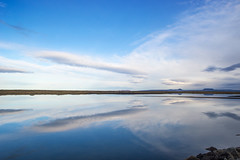 One breath away from mother Oceania (OR_U) Tags: 2017 oru iceland sky blue clouds reflection mirror sea lagoon tjörneshreppur landscape seascape cloudscape bjork