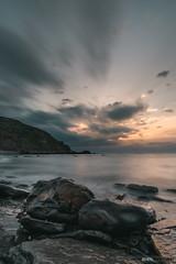 Meñakoz (jdelrivero) Tags: provincia mar geologia elementos meñakoz rocks rocas costa atardecer olas roca material bizkaia playa geology beach elements puestadesol rock sea sunset