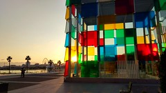 Cristal Box (nicopeña2) Tags: cube crystal box sun sunset sunlight lights colours malaga spain port boat trees mediterranean sea summer autumn mobile phone artistic photograph picture beautifulplace live life museum pompidou