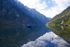 Klöntalersee (ste_he) Tags: switzerland schweiz natur nature klöntalersee spiegelung mirror lake see blau blue grün green wolken cloud
