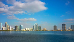 Buhaira Corniche, Sharjah (Irina.yaNeya) Tags: sharjah uae emirates buhairacorniche corniche sea lake water city sky skyscraper skyline clouds urban architecture buildings fountain eau cornisa mar lago arquitectura agua cielo ciudad rascacielos nubes urbano edificio fuente الامارات الشارقة كورنيشالبحيرة بحر بحيرة ماء مدينة برج سماء سحاب فنمعماري بناء نافورة шарджа оаэ эмираты набережная море вода город небо небоскреб облака архитектура здания фонтан
