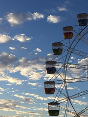 Luna Park ferris wheel (Simon_sees) Tags: clouds sky sydney lunapark themepark fun ferriswheel