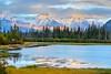 Sunset at Vermilion Lakes (Georgi Marinov) Tags: banff jasper nationalparks canada alberta sunsets nature landscapes vermilionlakes lake water canoneosm3 canonefm1122mm