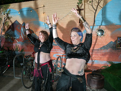 """Sisters of Tribellica dance at Diversity Fest 2017 (Tim Dennell) Tags: sistersoftribellica dance sheffield bellydance diversity arts """"performingarts"""" music poetry books authors poets singers dancers people lgbt cultures multicultural """"hagglerscorner"""" queens road october 2017"""
