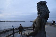Mermaid and pier (navarrodave80) Tags: mermaid pier dusk sculpture woman water perspectiveofmermaid nikon d3300 tamron diiivc 18200mm ustka polska poland statue
