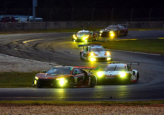 Night racing at Petit Le Mans (Thumpr455) Tags: 2017 imsa petitlemans race roadatlanta braselton ga october nikon d5500 autoracing car auto automobile sportscar worldcars action speed night racing dark headlights gt gtd afnikkor70200mmf28vrii acura porsche bmw ferrari